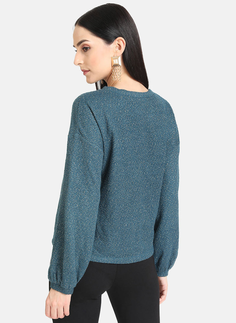 Lurex Pullover With A Patch