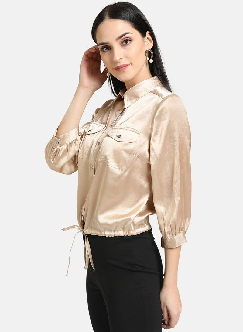 Satin Shirt With Classic Collar