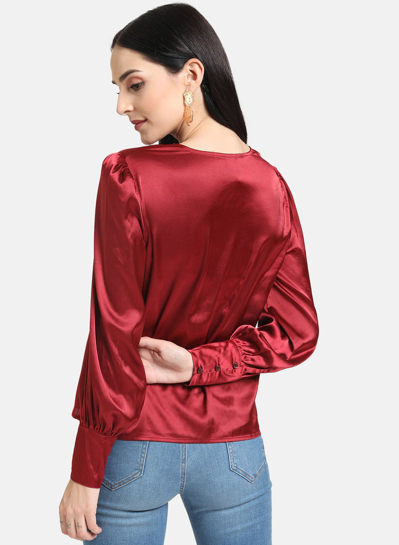 Satin Button Down Shirt (Additional 20% OFF)