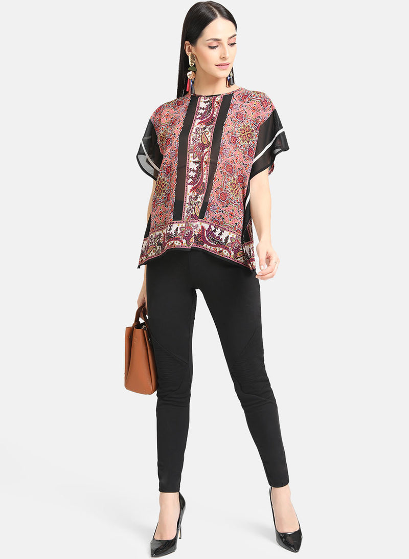Printed Kaftan Top