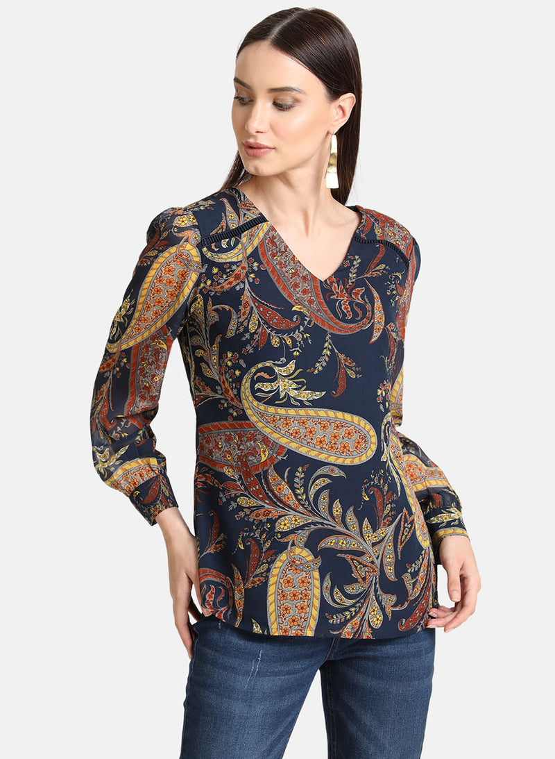 Paisley Print Top (Additional 20% OFF)