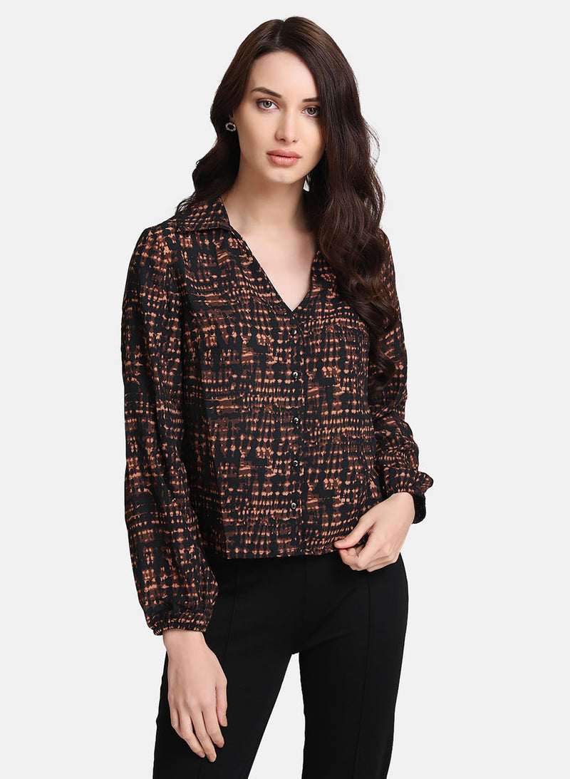V-Neck Button Detail Shirt (Additional 20% OFF)
