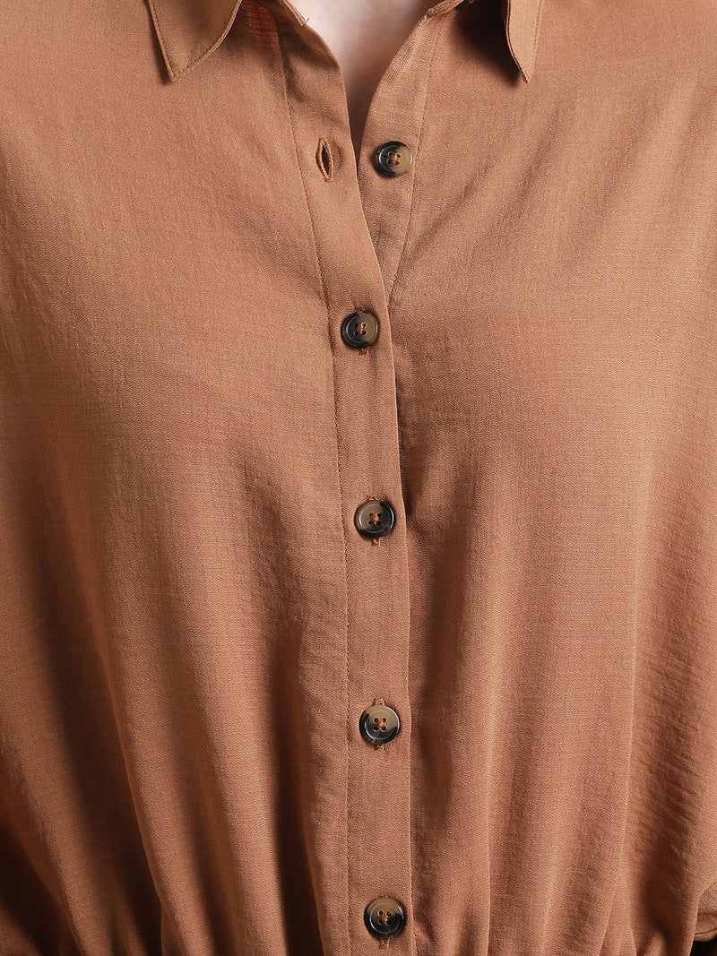 Shirt With Drawstring Detail