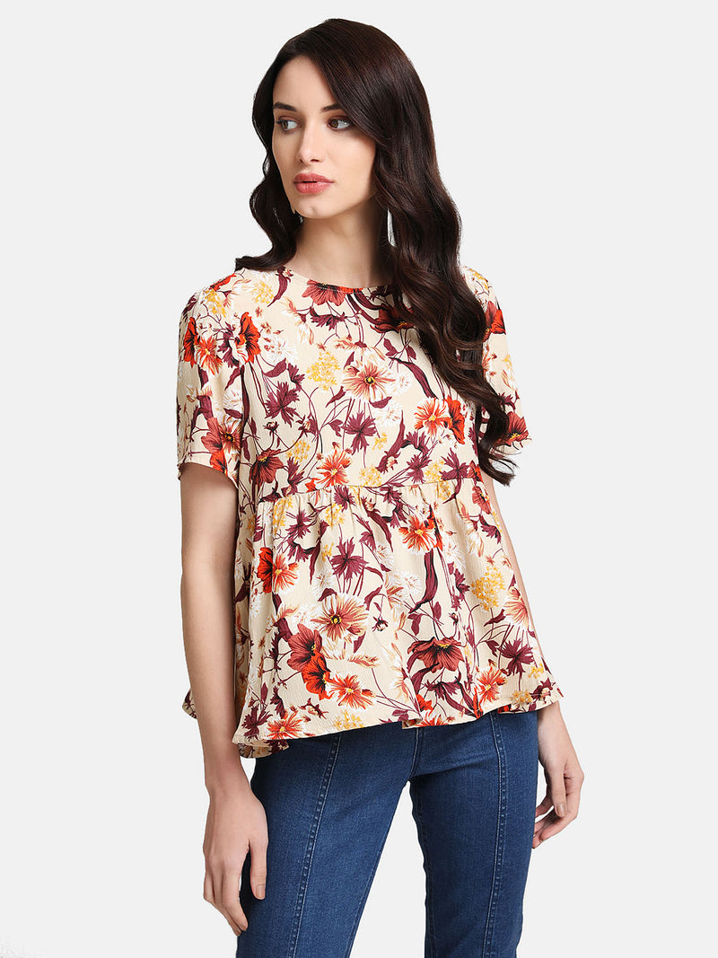Floral Printed Ruffle Top