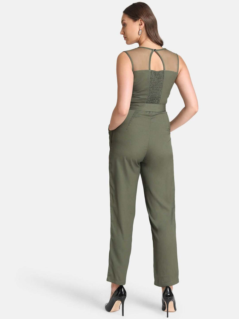 Self Wrap Smocked Jumpsuit (Additional 20% OFF)