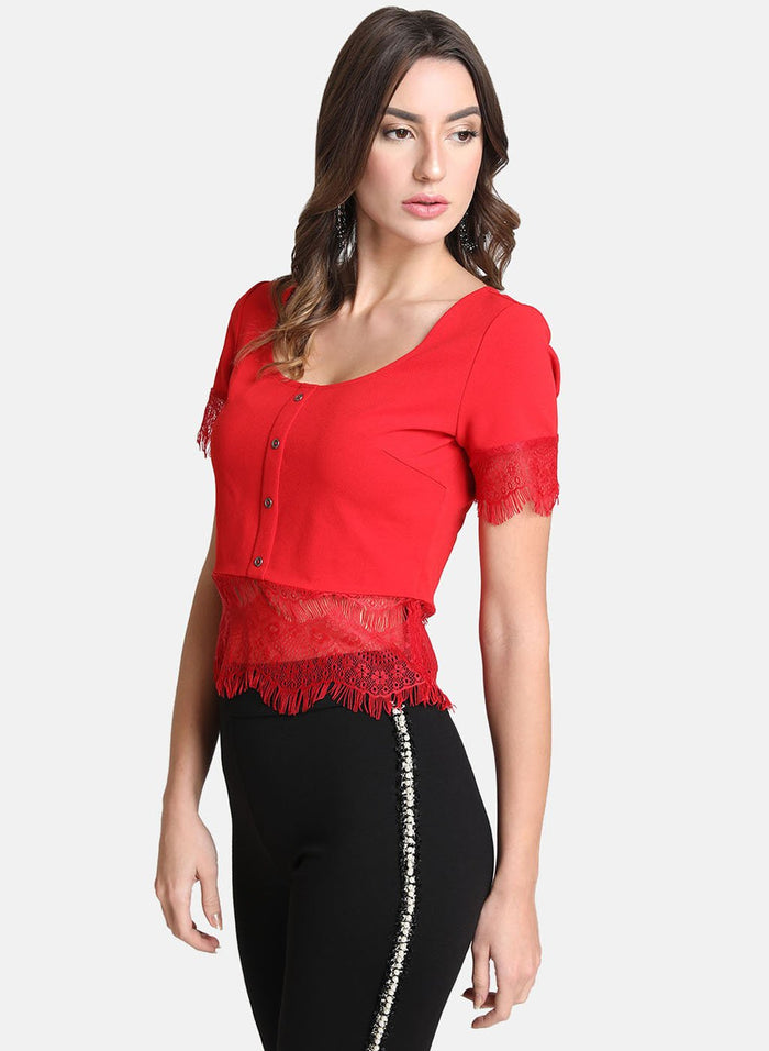 Lace Top With Buttons (Additional 20% OFF)