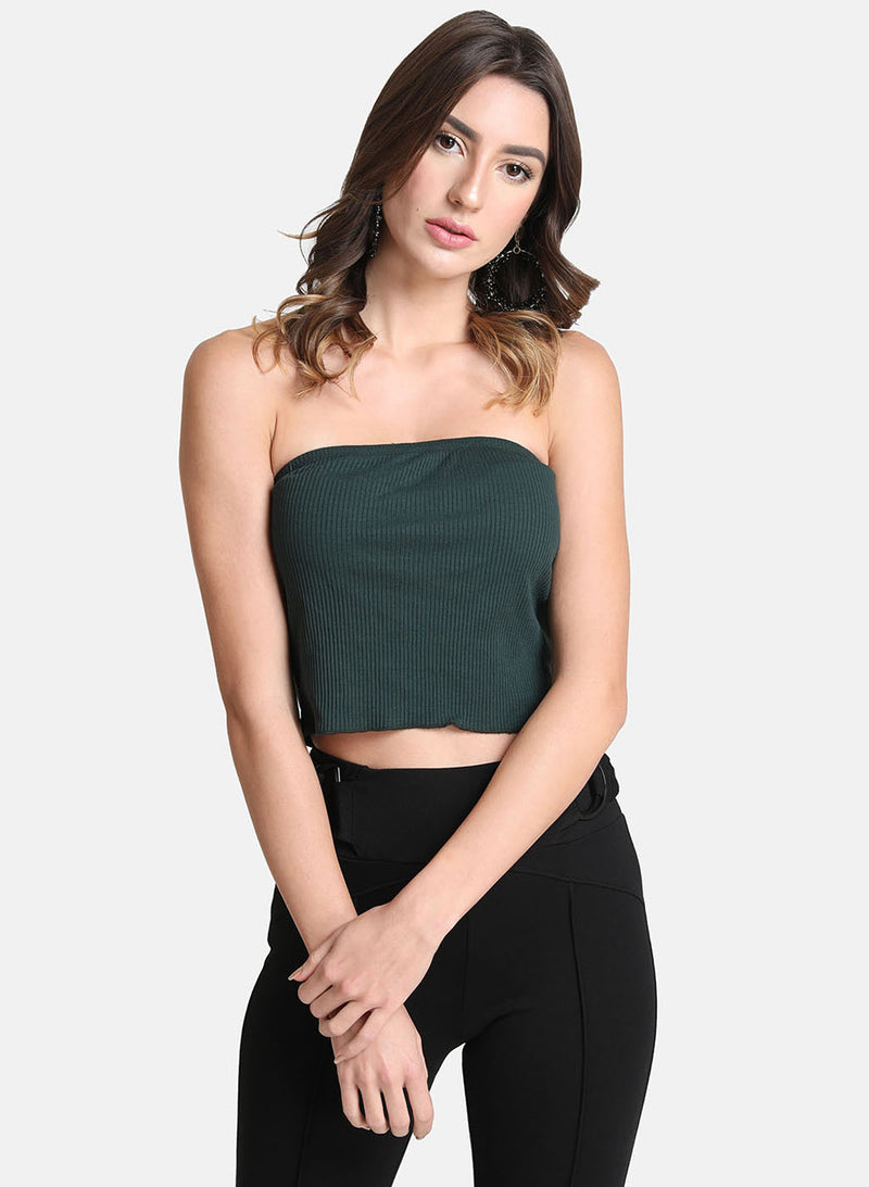 Rib Tube Top With Lettuce Edge(Additional 20% on 2)