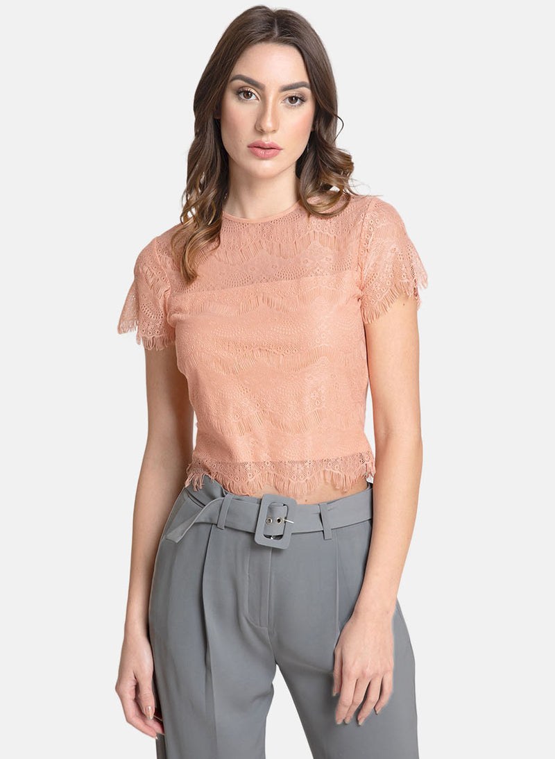 Lace Top With Scallop Edges (Additional 20% OFF)