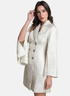 Lurex Blazer Dress