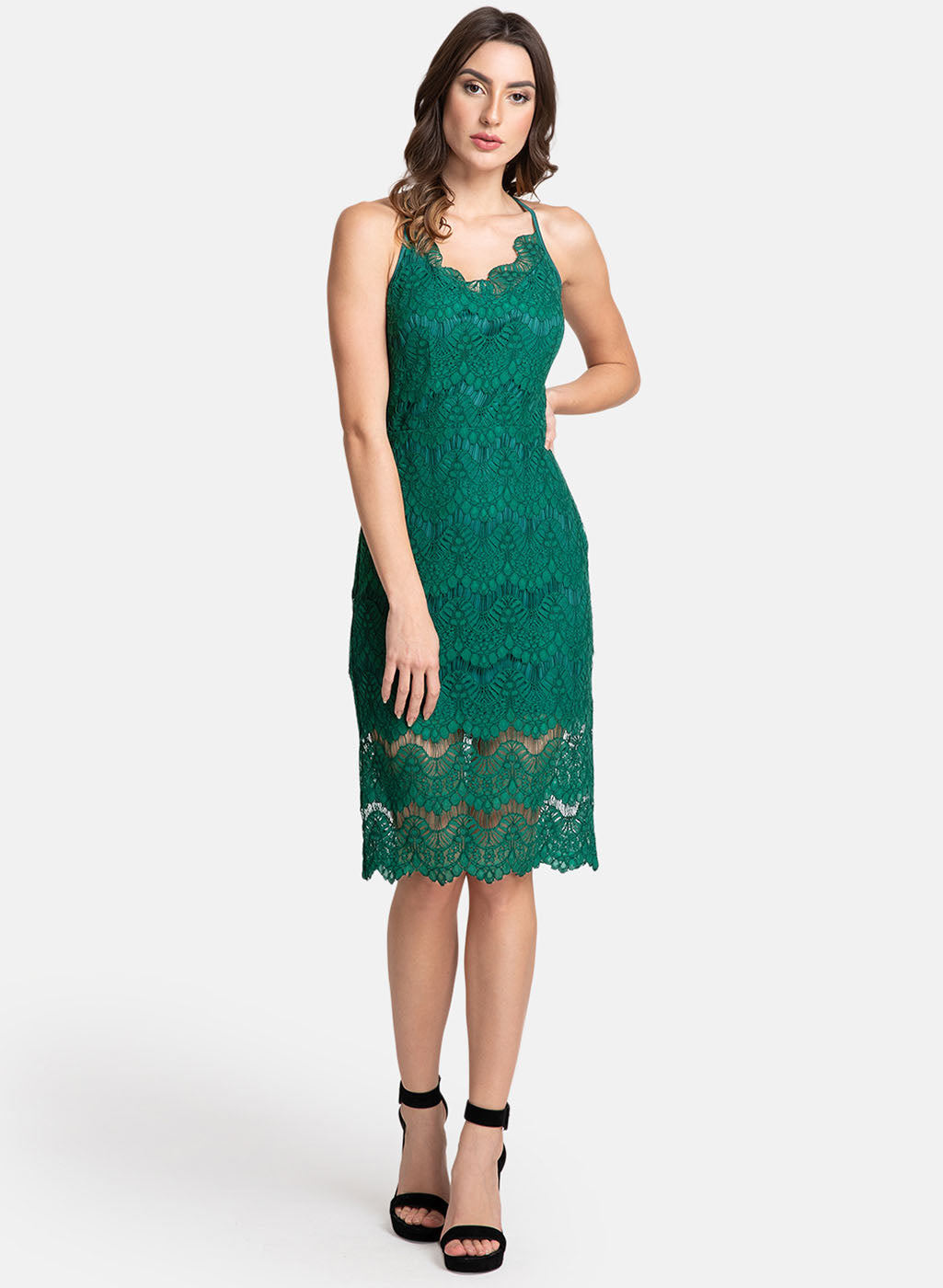 Lace Midi Sleeveless Dress (Additional 20% OFF)