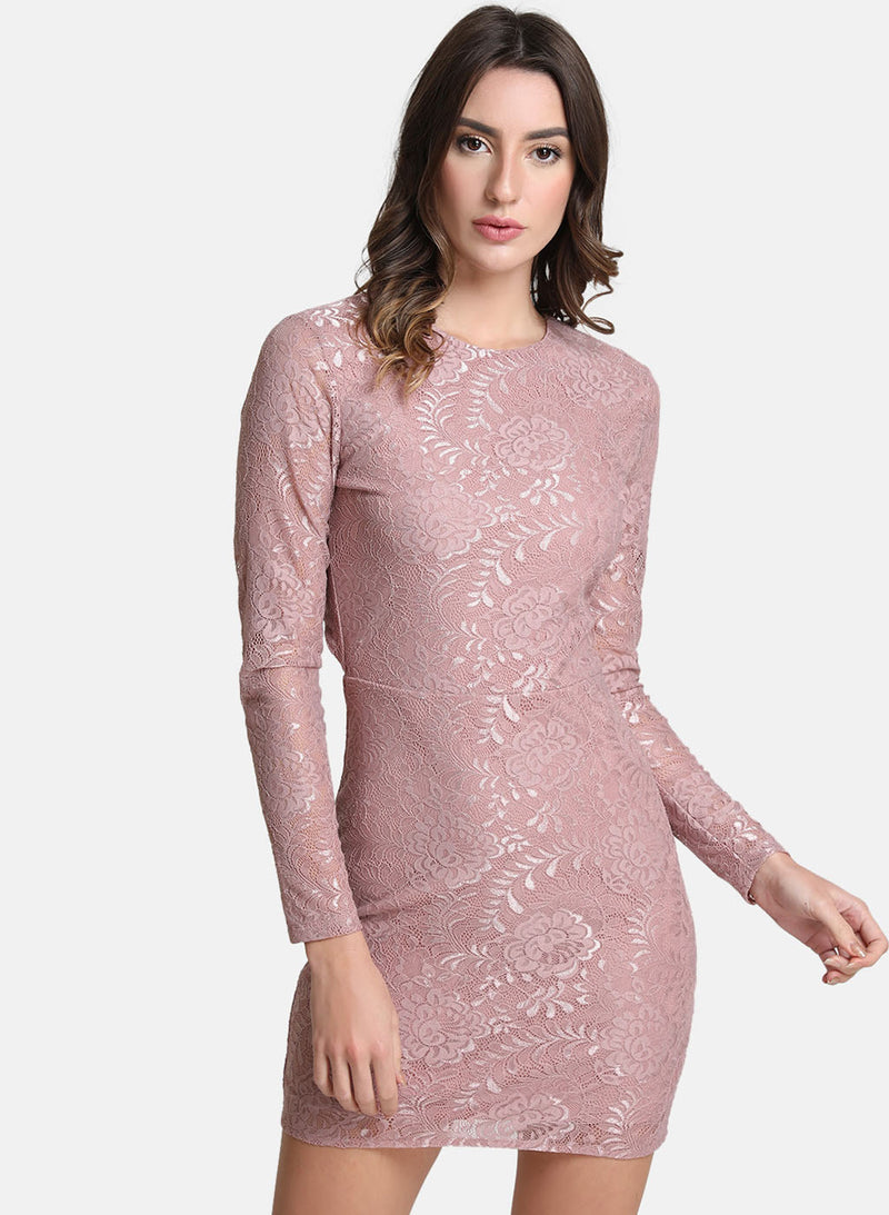Lace Dress With Back Detail