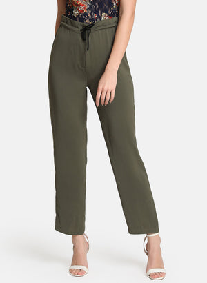 Straight Pants With Drawstring
