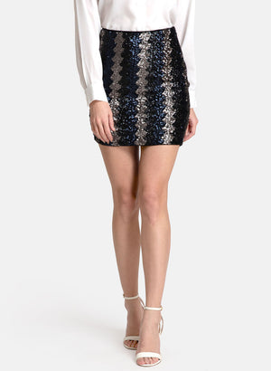 Stretchable Sequin Fitted  Skirt (Additional 20% OFF)