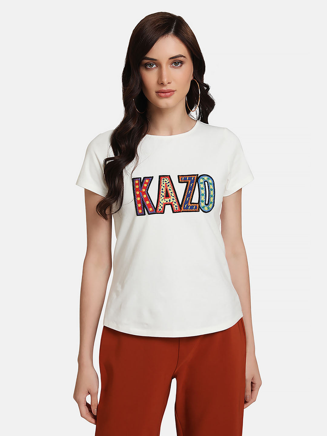 T-Shirt With Kazo Patch