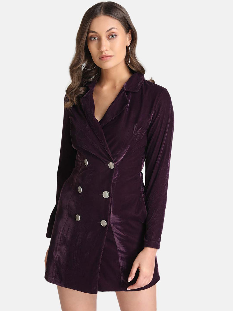 Velvel Blazer Wrap Dress
