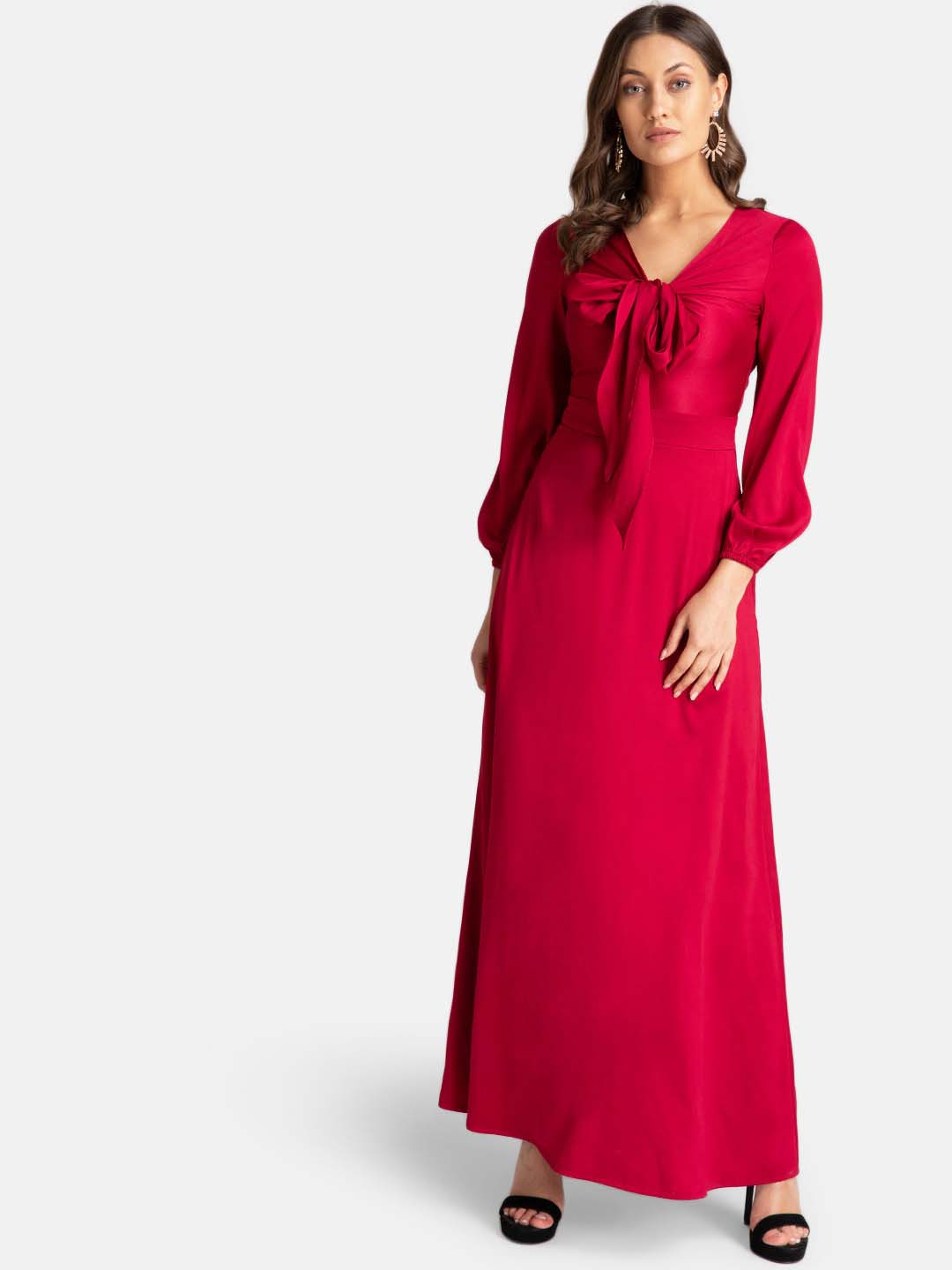 Front Self Tie Knot Maxi Dress (Additional 20% OFF)