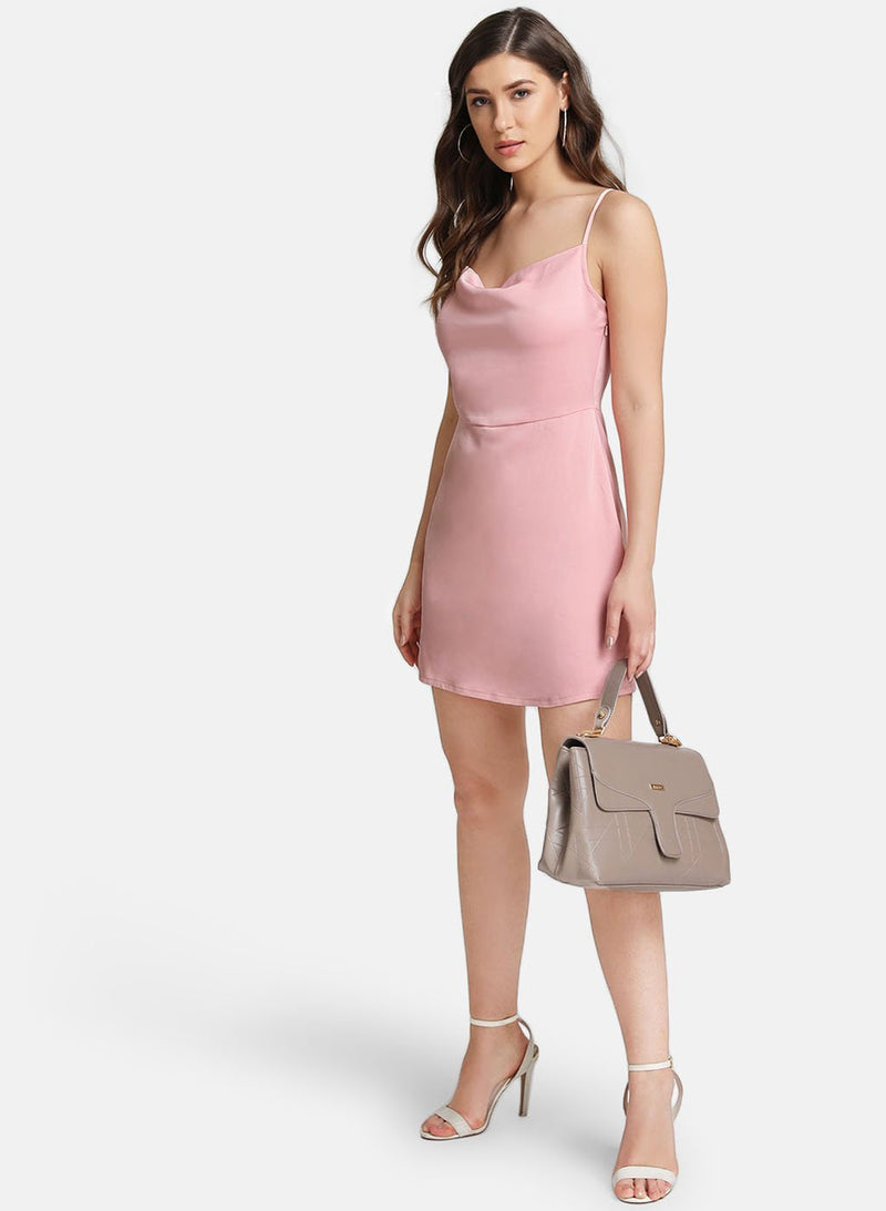 Satin Sleeveless Mini Dress