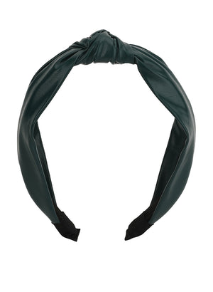 Faux Leather Thin Hairband
