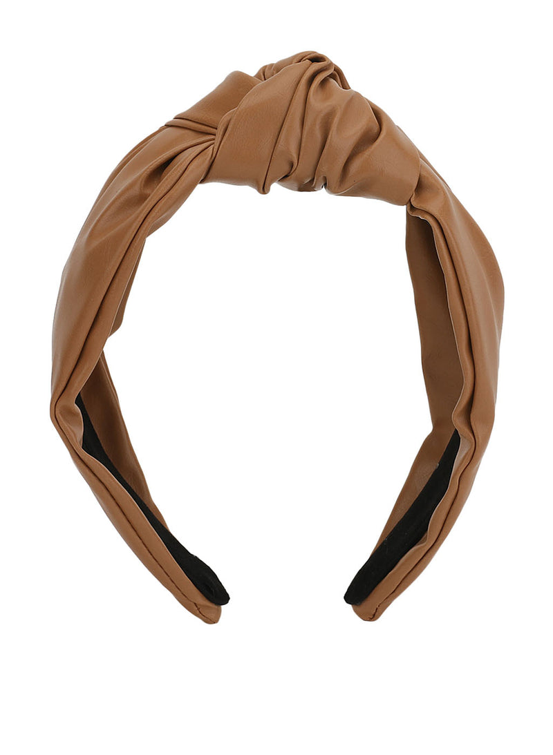 Faux Leather Broad Hairband
