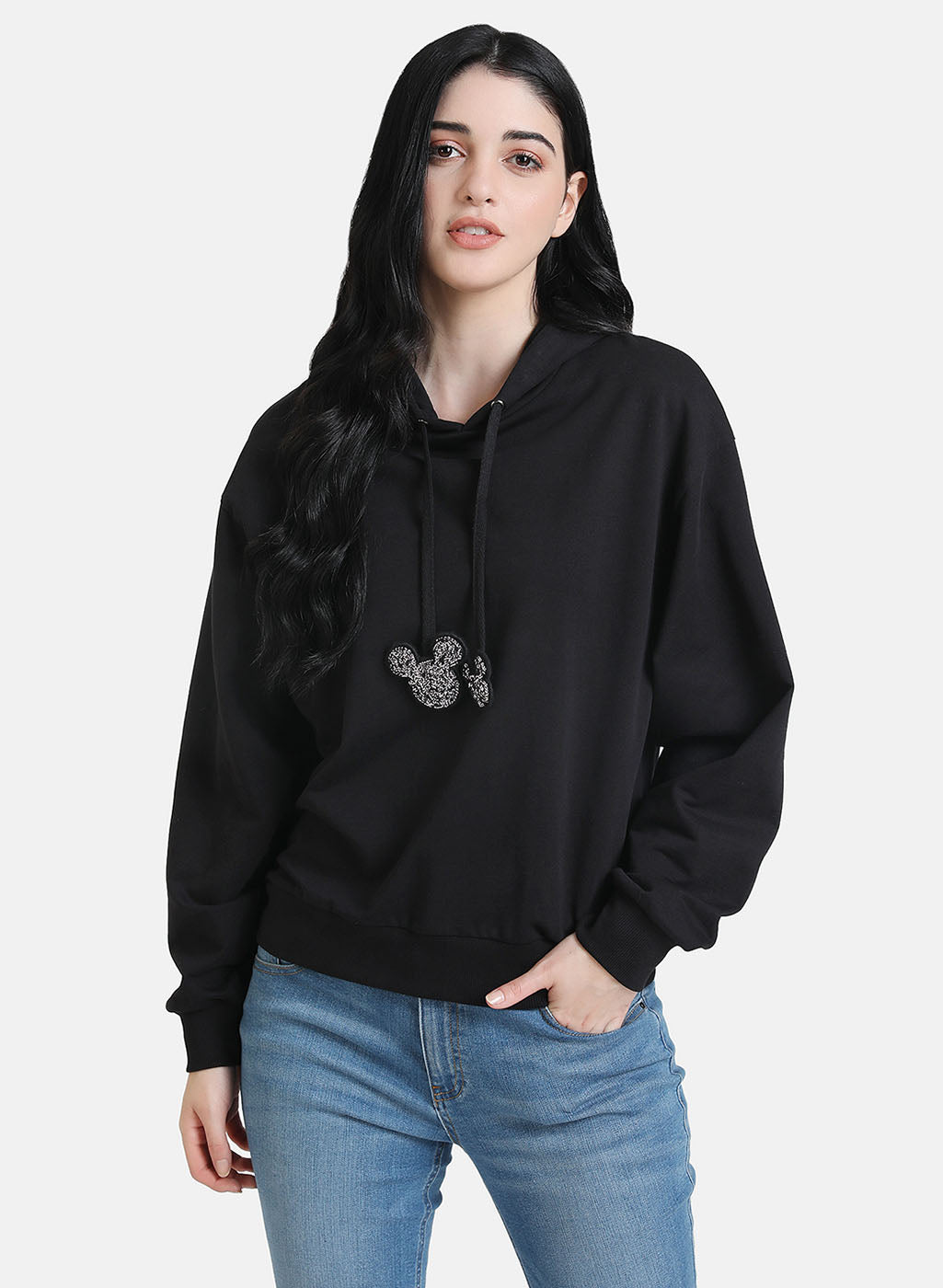 © Disney Mickey Mouse Sequin Drawstring Hoodie