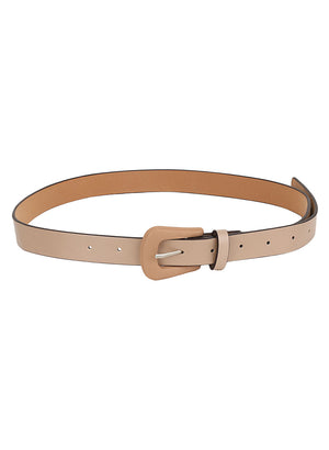 Faux  Leather Thin Belt