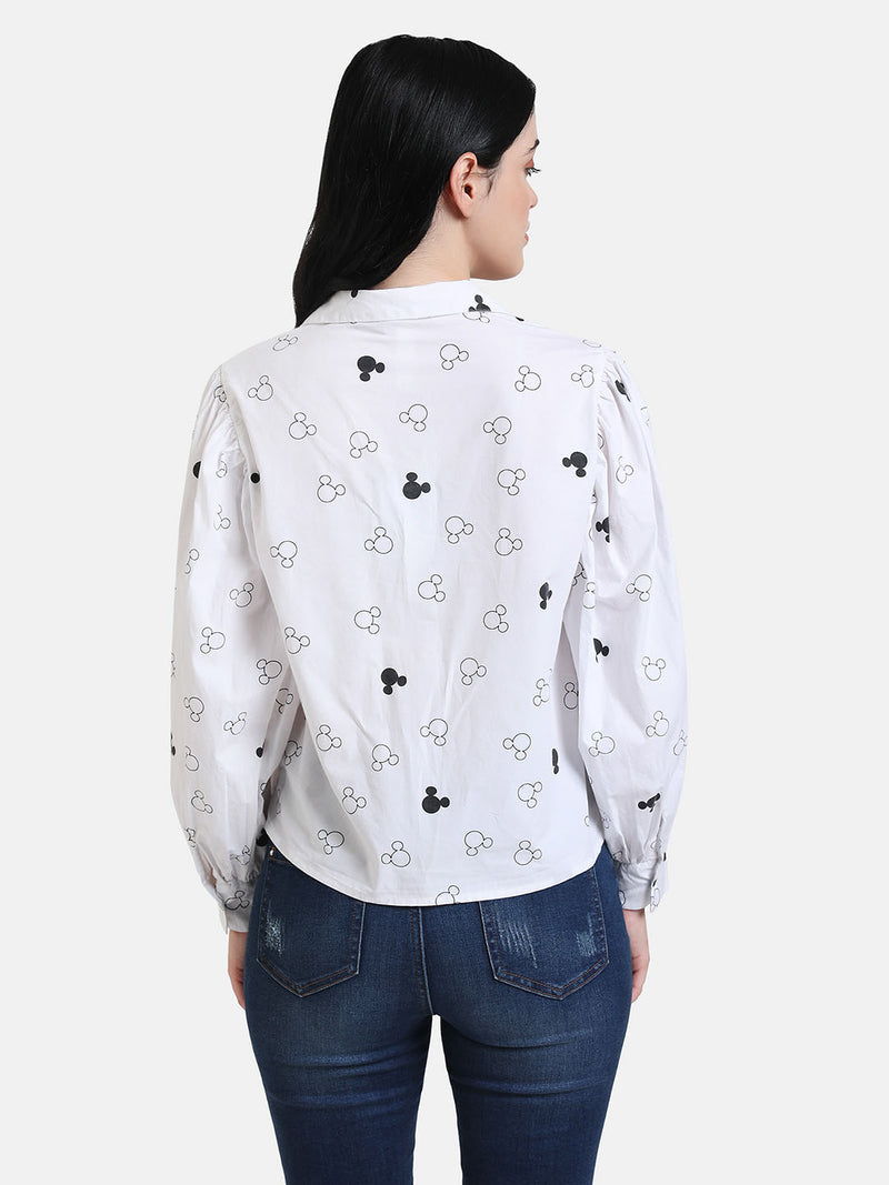 Mickey Mouse Print Sequin Shirt(Additional 20% on 2)
