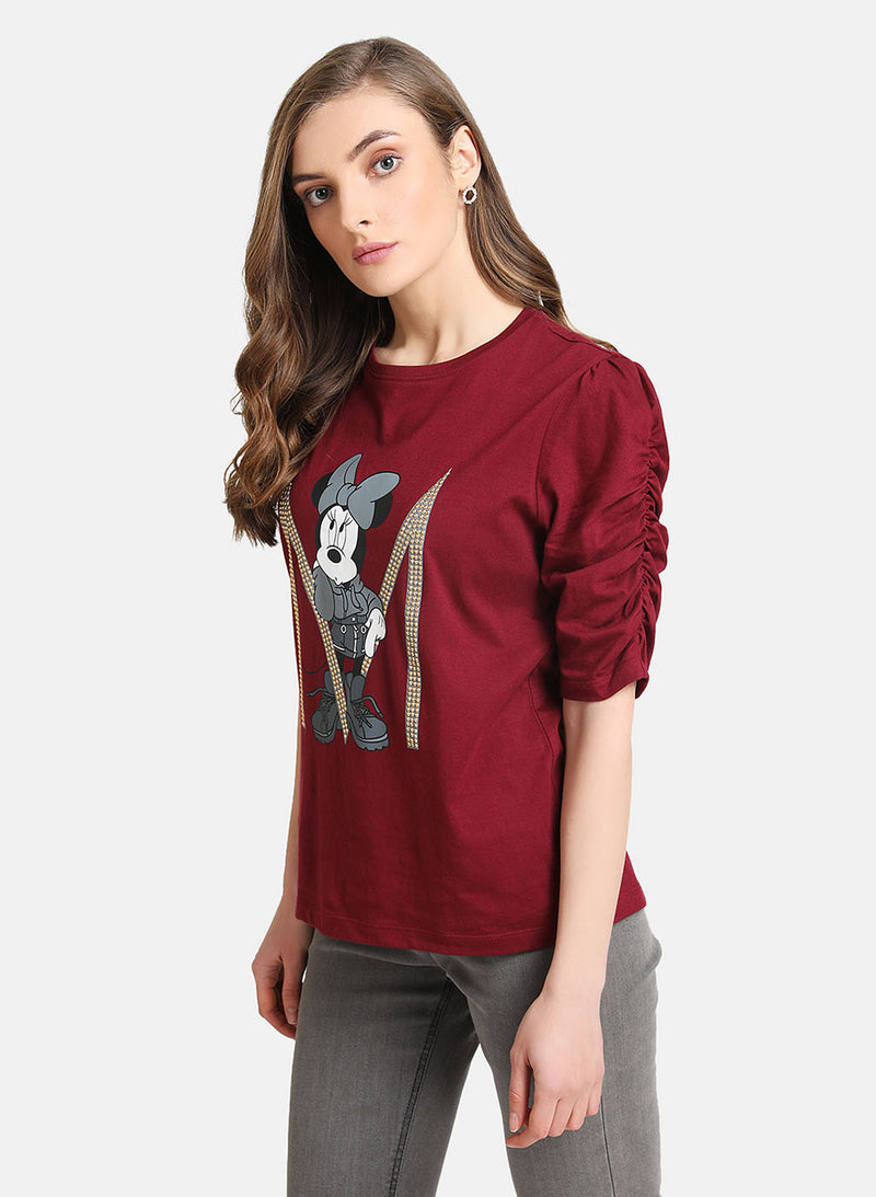Minnie Mouse © Disney Print & Heat Studded T-Shirt