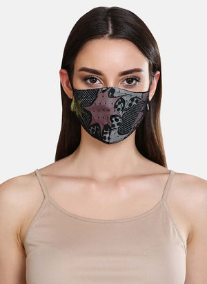 Printed 3 Layer Face Mask With Mesh Detail