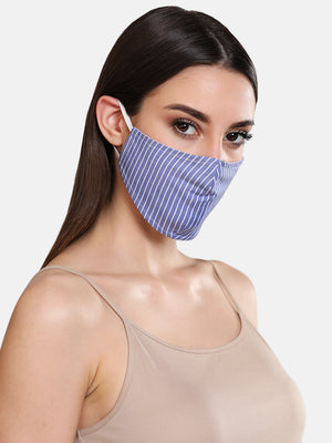 Stripped Woven 3 Layer Face Mask