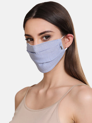 Stripped Woven 2 Layer Face Mask