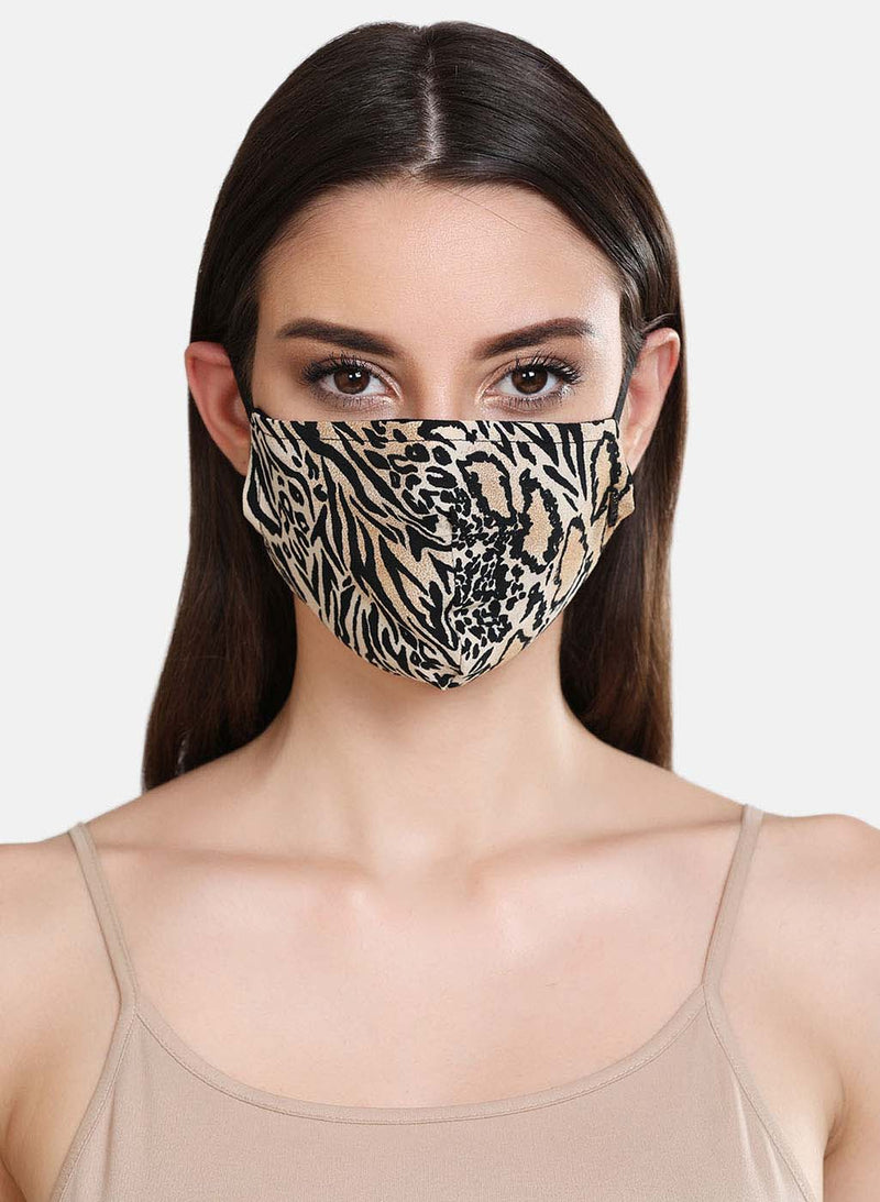 Animal Printed 3 Layer Face Mask