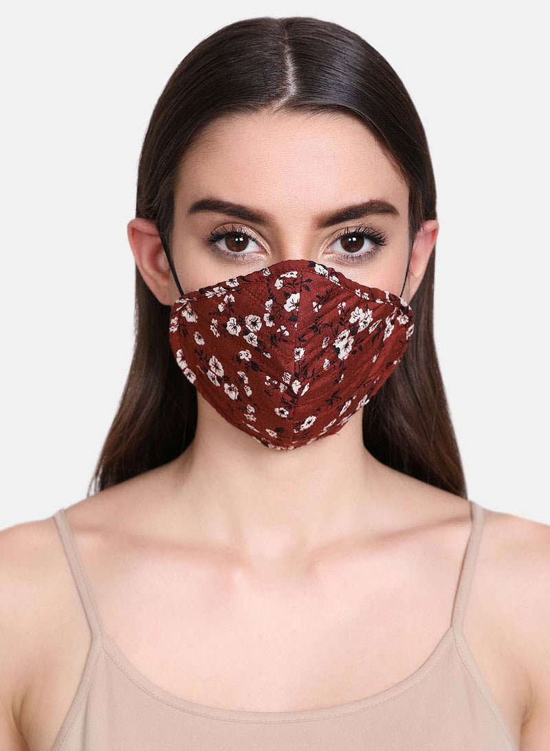 Floral Printed 3 Layer Face Mask