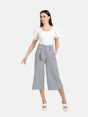 CULOTTES WITH BELT DETAIL - 2 PC SET