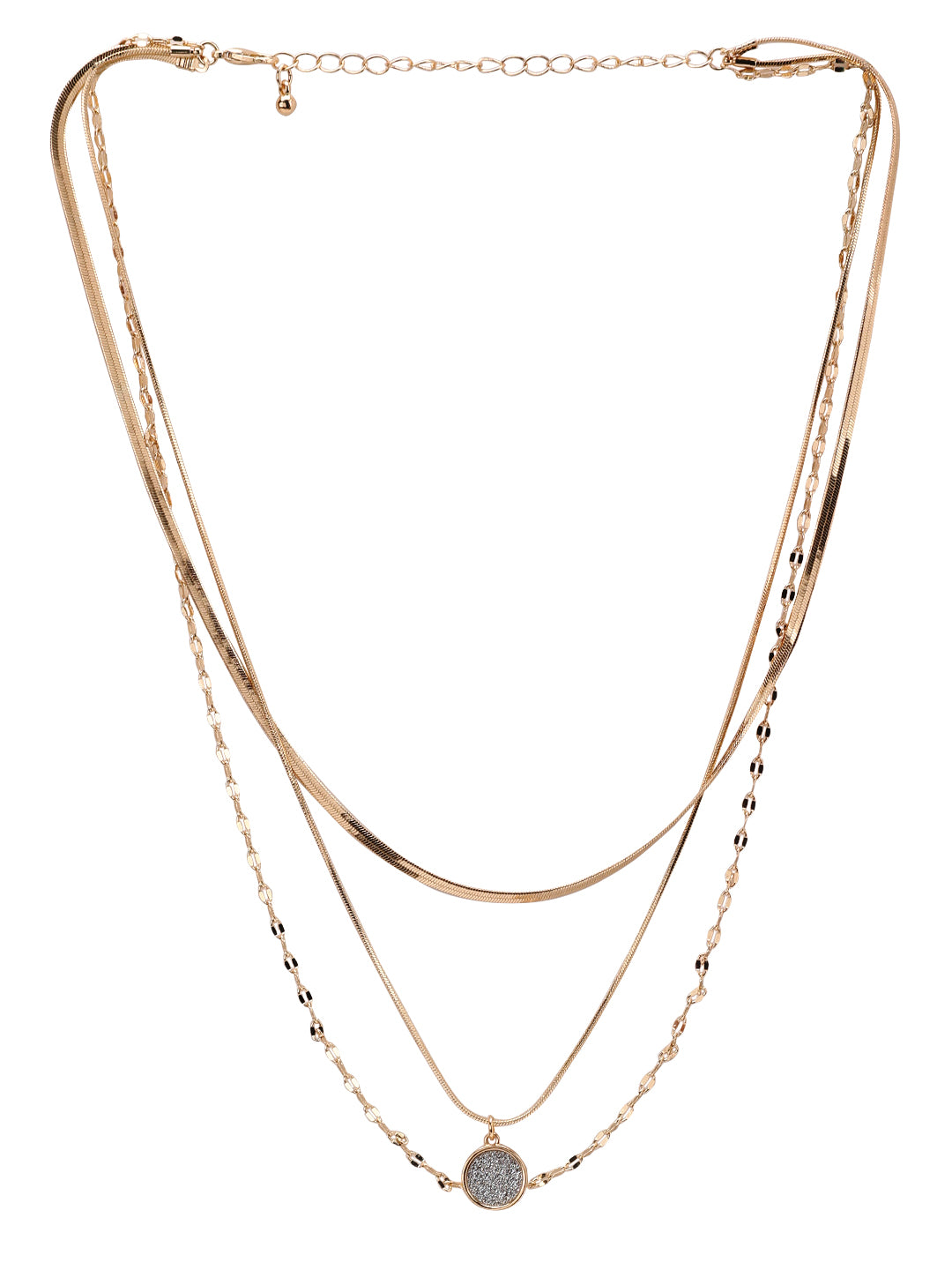 GOLD-TONED LAYERED NECKLACE