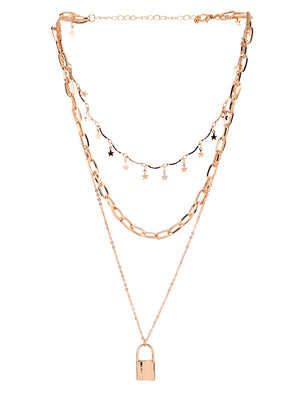 ROSE-GOLD PLATED NECKLACE