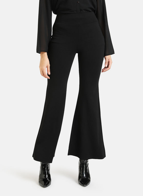 Flared Trousers With Elaticated Waist