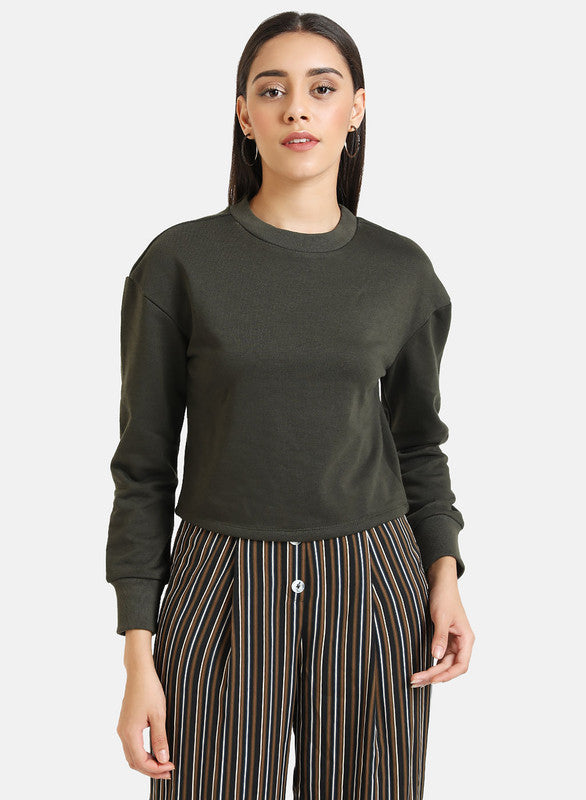 Cropped Olive Sweat