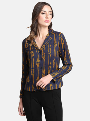 Rope Print Shirt(Additional 20% on 2)