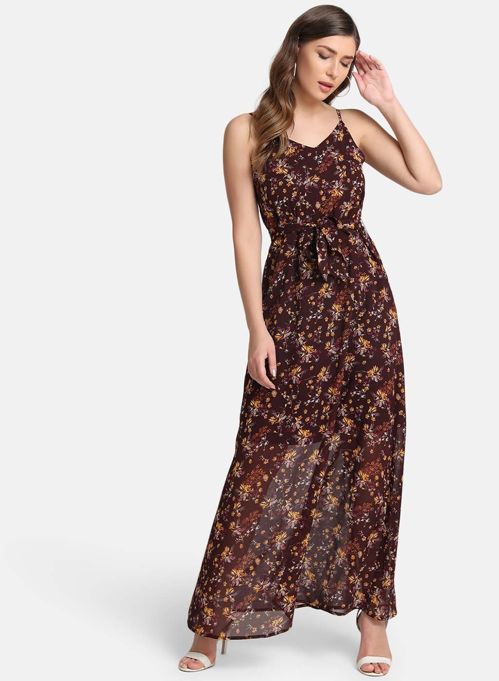 Maxi Dress With A Self-Tie Belt