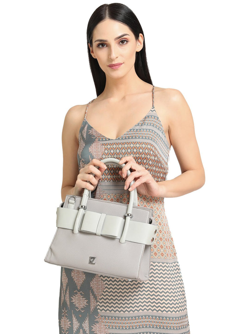 Heidi Bow Grey Handbag