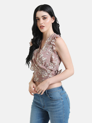Cropped Ruffle Top
