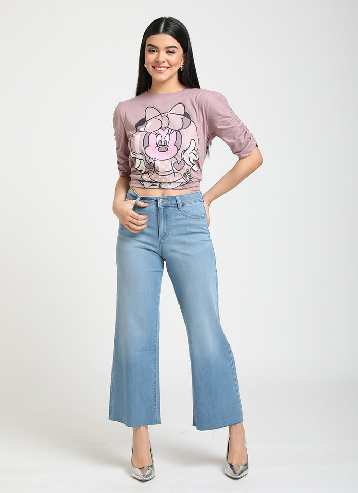 MINNIE MOUSE  © DISNEY PRINT & DIAMOND HEAT STUDDED T-SHIRT