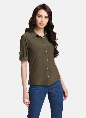 HALF SLEEVE STRETCH SHIRT