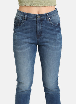 BASIC BLUE STRAIGHT FIT JEANS