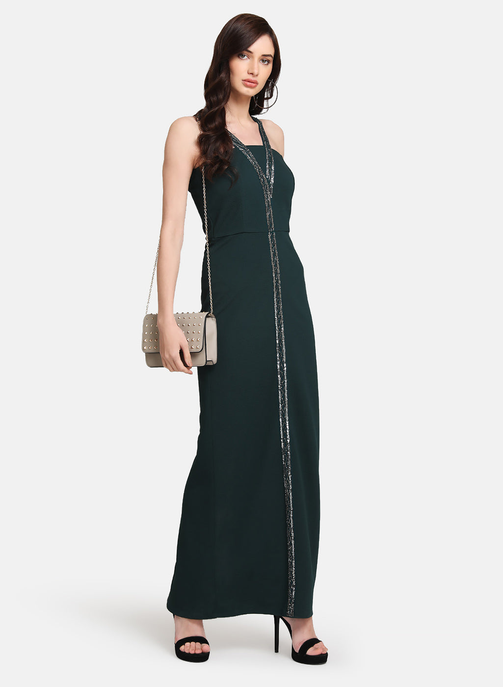 Embellished Cocktail Maxi Dress
