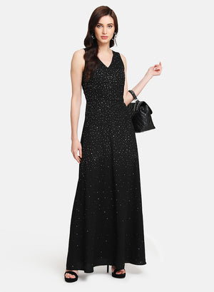 Sequin Embellished Maxi Dress