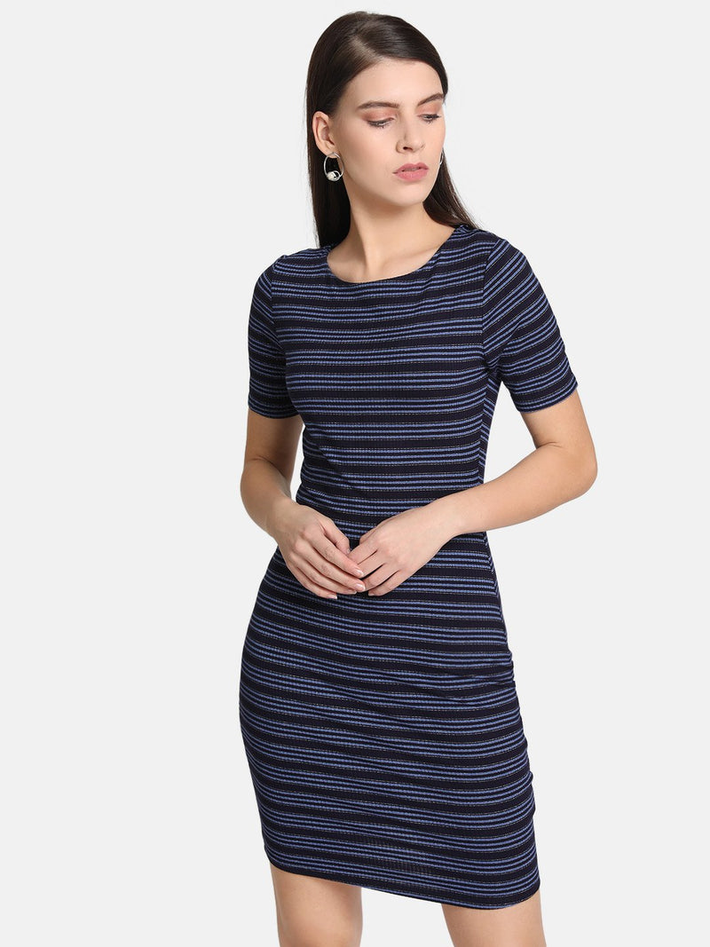 Knitted Stripe Bodycon Dress