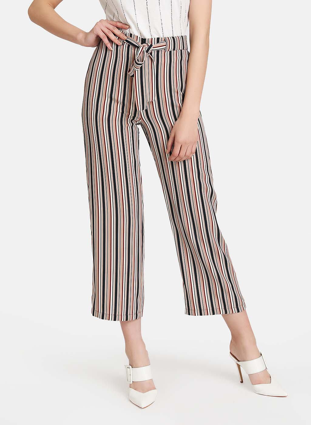 Belted Striped Trouser