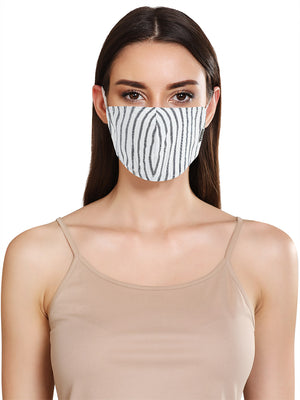 YARN DYED STRIPE UNISEX FACE MASK