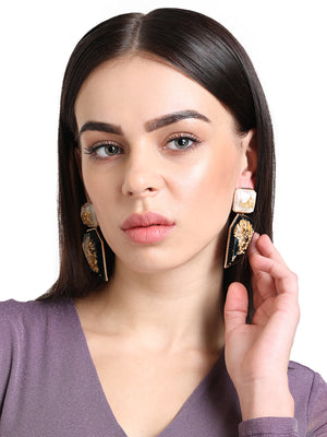 Geometrical drop earring